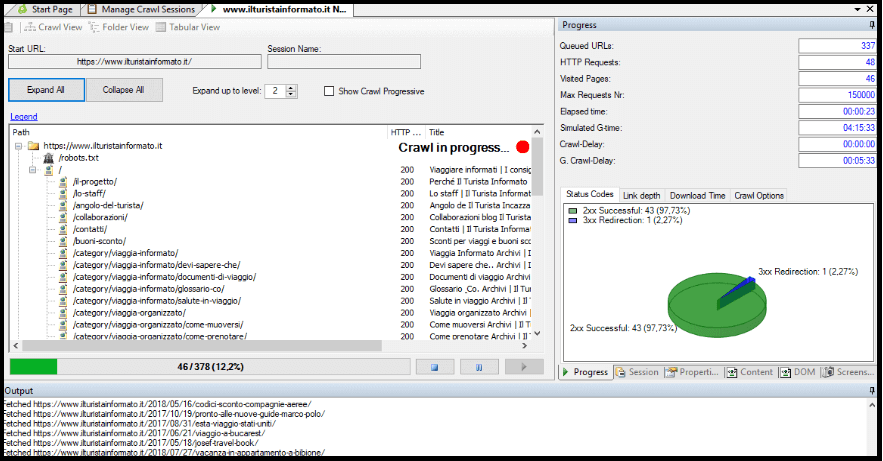 Analiza techniczna strony z wykorzystaniem narzędzia Visual SEO Studio